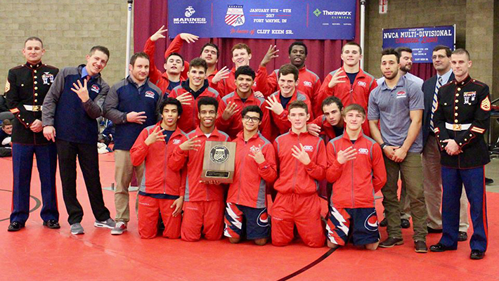 Wrestlers take second place in a wild finish